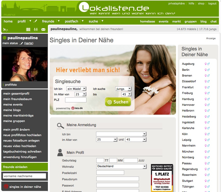 dating portal test Neumünster